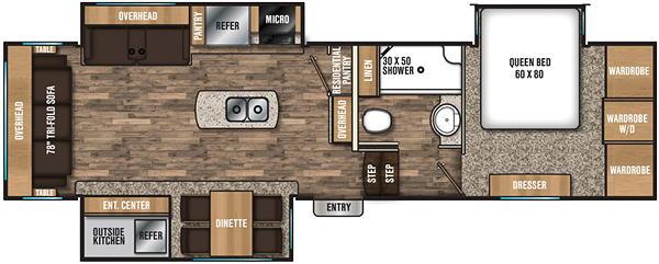 Chaparral 295RLS Floor Plan