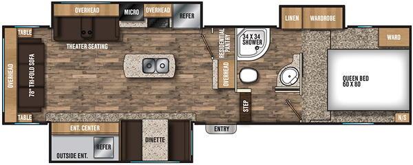 Chaparral Lite 285RLS Floor Plan