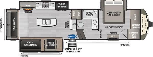 The Montana 3120RL Floor Plan