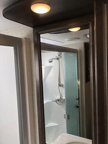 Our Shower in Our Montana 3120RL