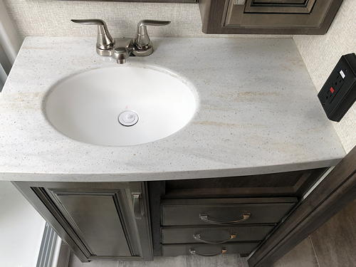 Bathroom Sink and Vanity in Our Montana 3120RL