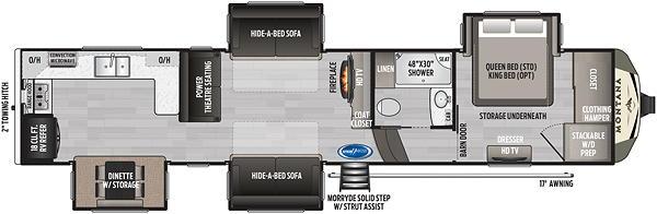 The Montana 3700LK Floor Plan