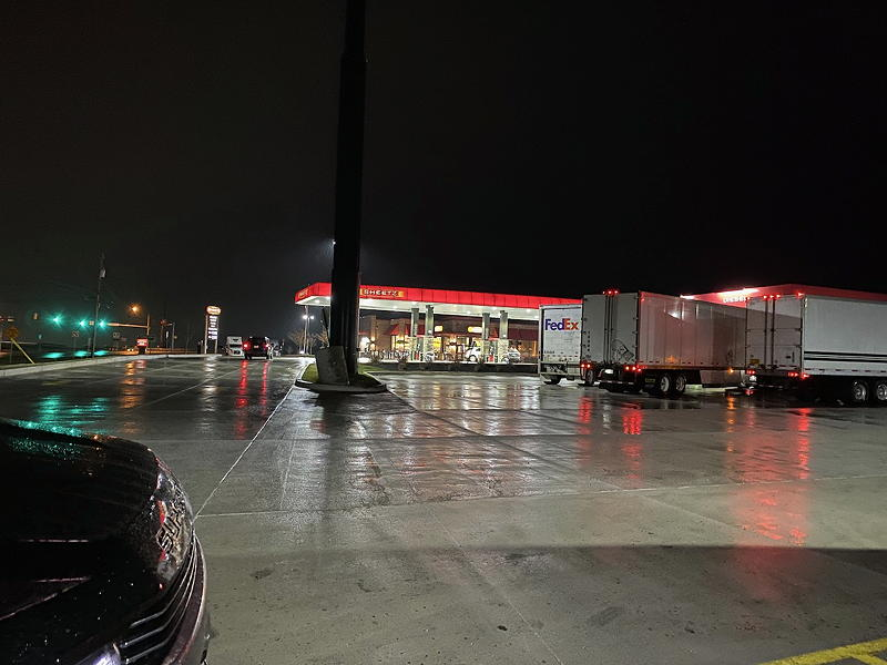 We stopped at a Sheetz truck stop in Southampton Township, Pennsylvania, for a bathroom break because the Pennsylvania rest stops on I-81 and elsewhere were closed due to COVID-19.