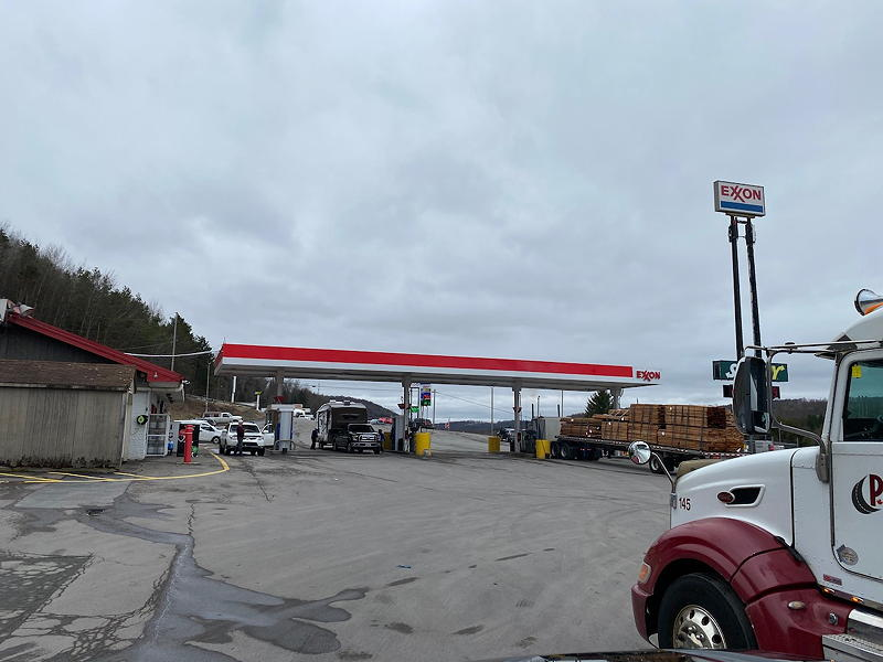 We stopped at this Exxon station in Harford Township, Pennsylvania. We ate lunch and used the facilities.