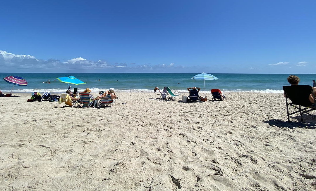 The Beach in Fort Pierce, Florida on March 15, 2020