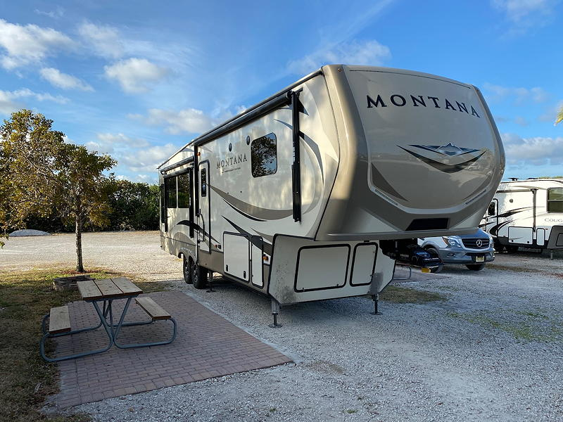 We had a typical campsite at the Fort Pierce Downtown KOA campground.