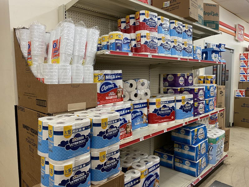 There's plenty of toilet paper at the Family Dollar across from the Fort Pierce Downtown KOA campground.