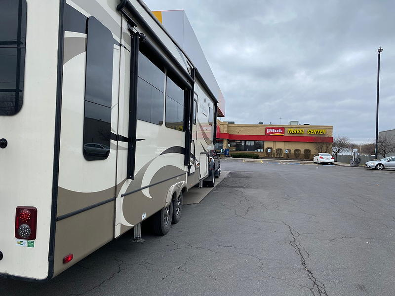 We refuelled at a Pilot Travel Center in Liverpool, New York.