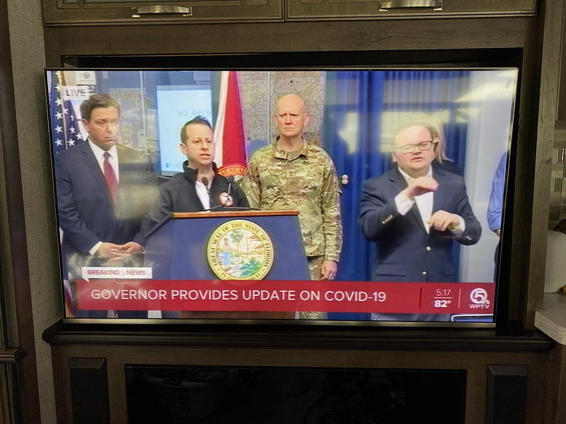 As we watched this press conference with the Governor of Florida, Ron DeSantis, it dawned on us that it was time to go home.